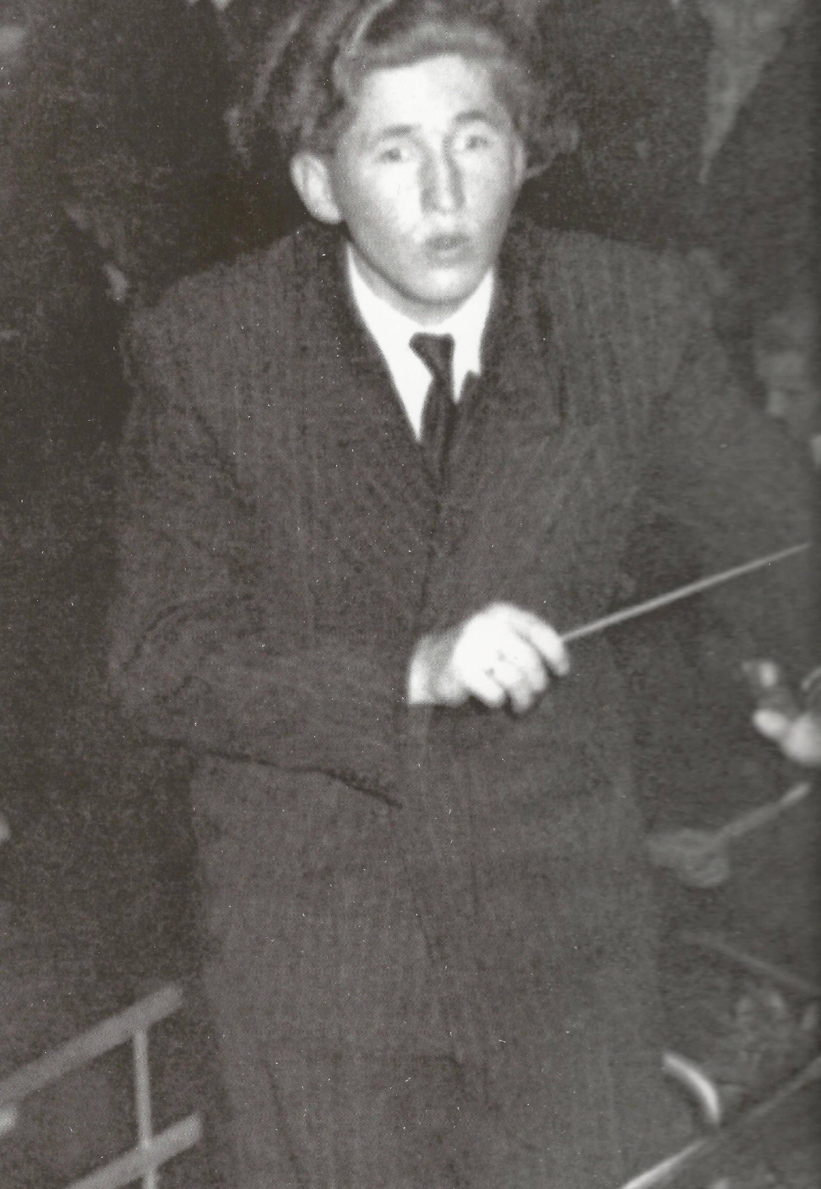 Als ca. 18-jähriger Dirigent